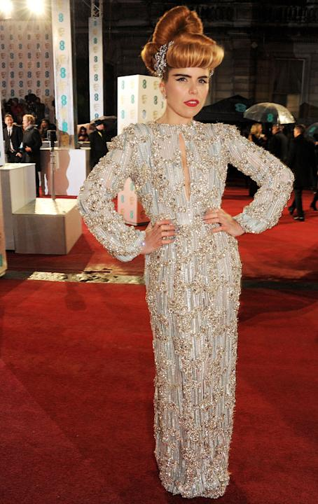 BAFTA 2013: Best and Worst Dressed: Performer of the night Paloma Faith looked quirky as ever on the red carpet. Copyright: [Getty]