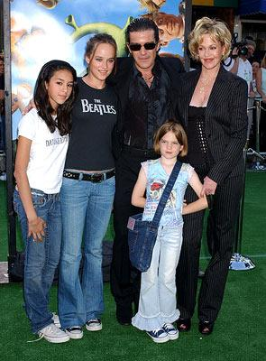 Premiere: Antonio Banderas, Melanie Griffith and kids at the L.A. premiere of Dreamworks' Shrek 2 - 5/8/2004