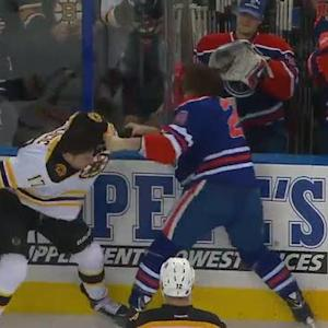 Milan Lucic and Luke Gazdic Scrap