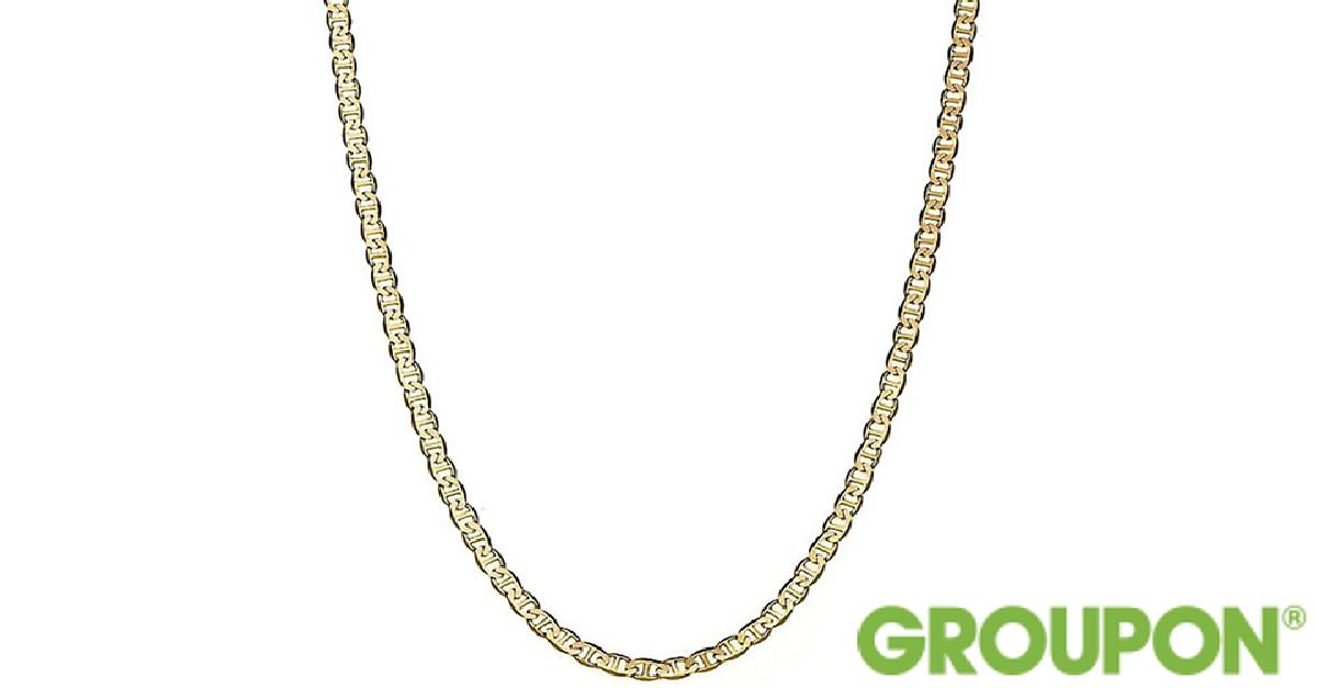 60% Off on Solid 14K Flat Marina Chain