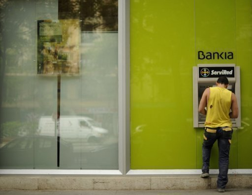 Shares in Spain's troubled Bankia soared 25.88 percent on Friday