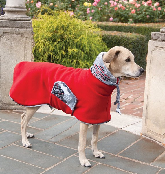 Fleece Winter Coat with Drawstring Snoodle