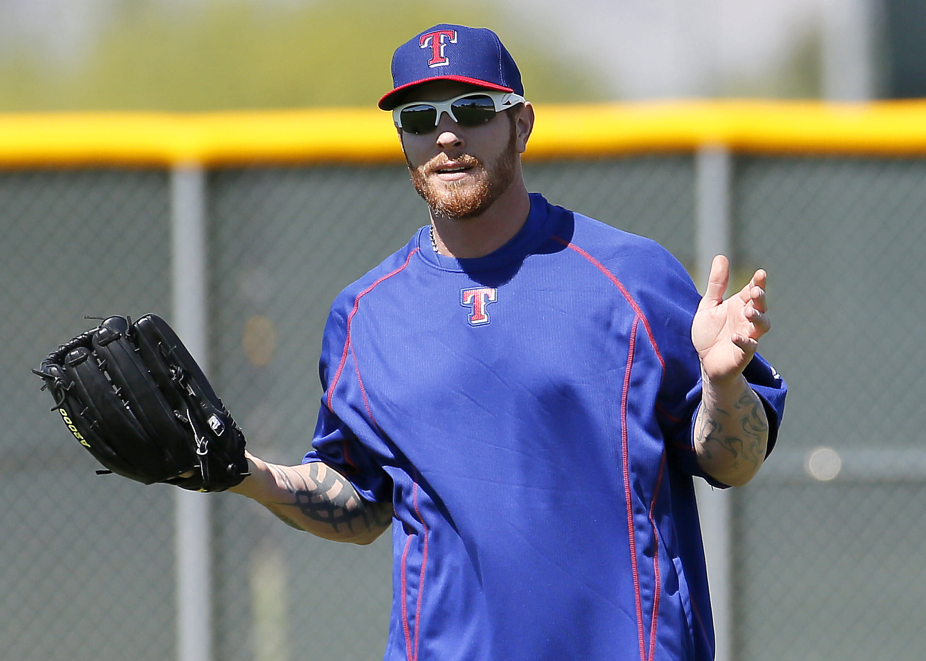 Hamilton plays 1st extended spring training game for Rangers