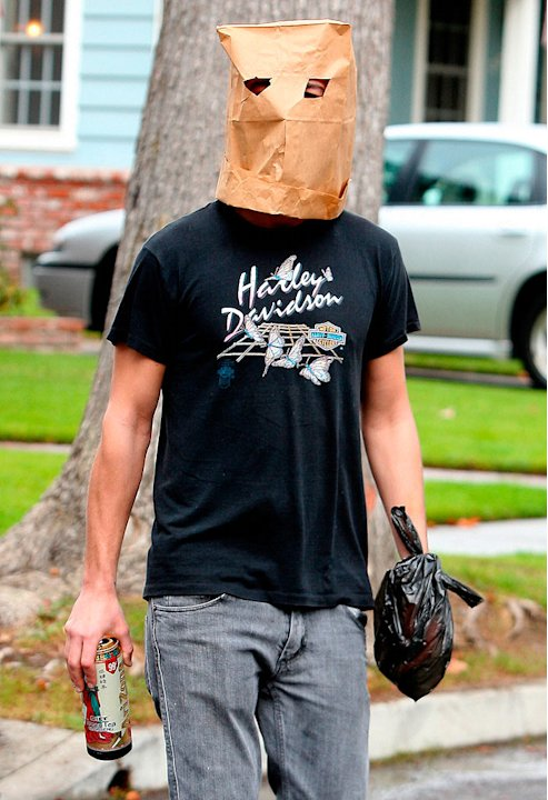 La Beouf Shia Bag On Head