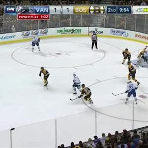 Tuukka Rask Save on Yannick Weber (10:09/2nd)