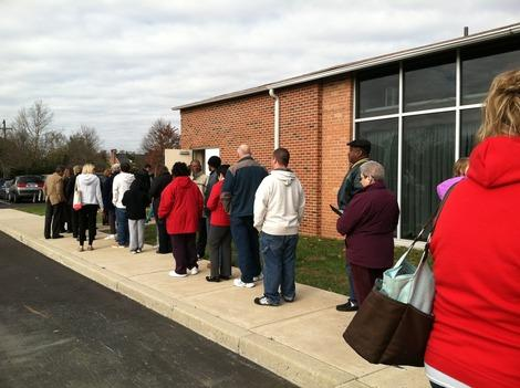 Photo: Long Voting Lines in Pennsylvania