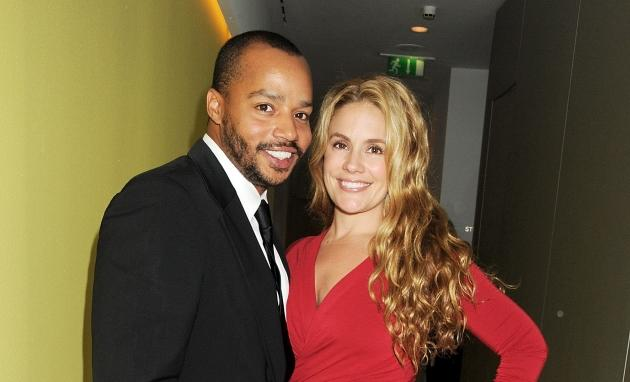 Donald Faison and Cacee Cobb attend an after party celebrating the press night performance of 'All New People' at St Martin's Lane Hotel in London on February 28, 2012 -- Getty Premium