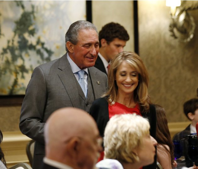 Atlanta Falcons NFL football team owner Arthur Blank is pictured at a Democratic Party fundraiser in Atlanta