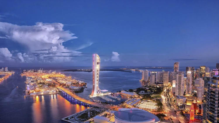 Handout shows artist's rendering of the SkyRise Miami tower