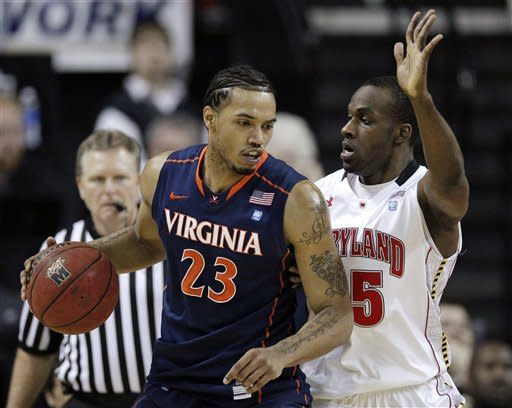 No. 24 Virginia beats Maryland 75-72 in OT