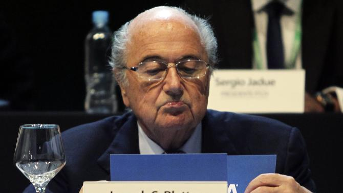 FIFA President Sepp Blatter attends the CONMEBOL ordinary congress in Luque