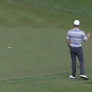 Chris Kirk drains 20-footer from fringe for birdie at The RSM Classic