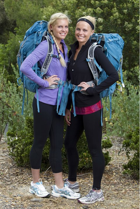 "Sisters Liz (left) and Marie Canavan compete in ""The Amazing Race 19."""