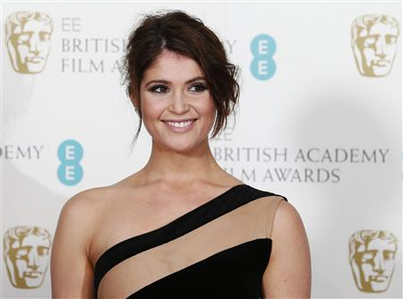 File photo of British actress Arterton posing for photographers at the BAFTA awards ceremony in London
