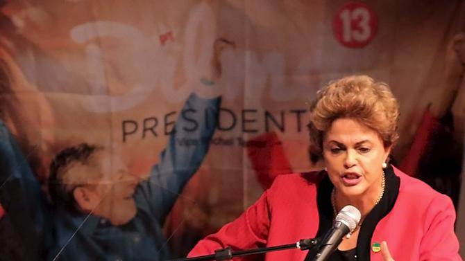 Brazil's President Rousseff speaks during a Unified Workers' Central congress in Sao Paulo