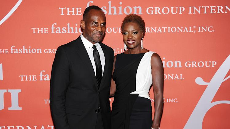 "Actress Viola Davis and her husband Julius Tennon attend the 29th Annual ""Night Of Stars"" presented by The Fashion Group International at Cipriani Wall Street on Thursday Oct. 25, 2012 in New York. (Photo by Evan Agostini/Invision/AP)"