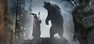 Promotional poster of Gandalf with Beorn in bear form