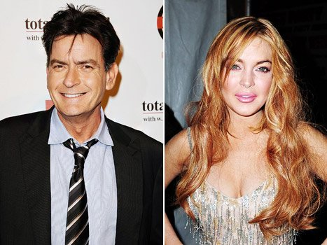 Charlie Sheen Offered to Pay for Half of Lindsay Lohan's Gown at amfAR Gala
