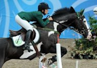 Dalma Rushdi Malhas, pictured in 2010, tipped to become a pioneering woman competitor for Saudi Arabia at the London Olympics, has in fact failed to qualify and won't compete, the International Equestrian Federation (FEI) said Monday