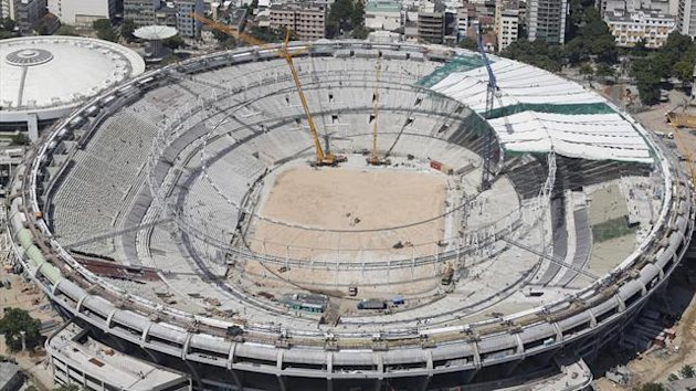Construction at the Maracana