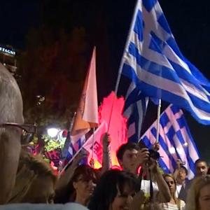 """Celebrations, anxiety after """"no"""" vote in Greece"""