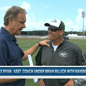 Brian Billick and New York Jets head coach Rex Ryan reunite