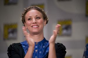 Kaley Cuoco speaks on stage during day two of Comic-Con 2011 held at the San Diego Convention Center on July 22, 2011 -- Getty Premium