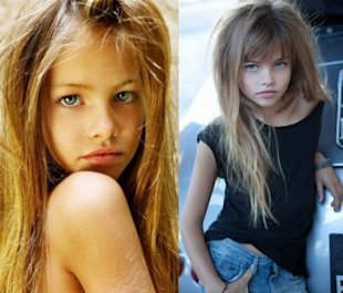 Ten-year-old French model Thylane Loubry Blondeau