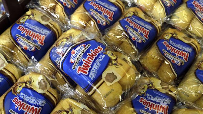 Twinkies baked goods are displayed for sale at the Hostess Brands' bakery in Denver, Colo. on Friday, Nov. 16, 2012. Announcements that Hostess Brands will be going out of business prompted a buyers' run on the bakery. (AP Photo/Brennan Linsley)
