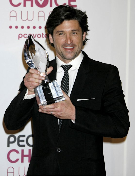 Patrick Dempsey, winner of Favorite Male TV Star at The 33rd Annual People's Choice Awards.
