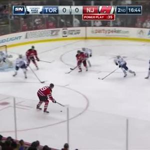 Cory Schneider Save on Mike Santorelli (03:30/2nd)