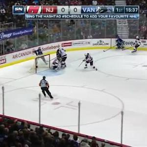 Cory Schneider Save on Yannick Weber (04:25/1st)