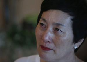 Kim Young-ja, a sister of Kim Young-nam who is a South Korean abductee living in North Korea, cries during an interview with Reuters in Jeonju
