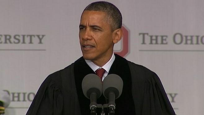 Obama Tells OSU Grads: 'America Needs Full Time Citizens'