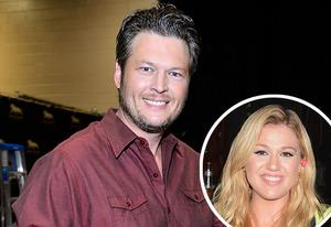 Blake Shelton, Kelly Clarkson( inset) | Photo Credits: Frazer Harrison/Getty Images; Jeff Kravitz/FilmMagic