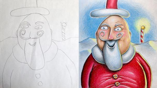 Dad Adds Magical Element to 6-Year-Old Daughter's Drawings