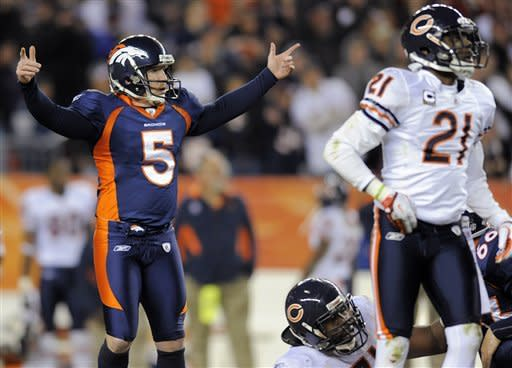 Tebow, Broncos beat Bears 13-10 in overtime