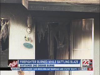 Firefighter injured during house fire