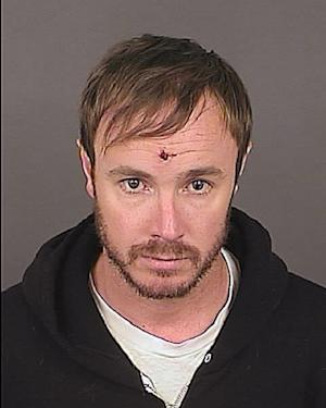 Eddie Ray Fisher, 38, is seen in a May 15, 2012 booking photo provided by the Denver Police Department. Fisher was arrested in Denver early Tuesday morning, May 15, 2012 on suspicion of assault, destruction of private property and disturbing the peace. According KMGH-TV in Denver, Fisher was the drummer for OneRepublic band. (AP Photo/Denver Police)