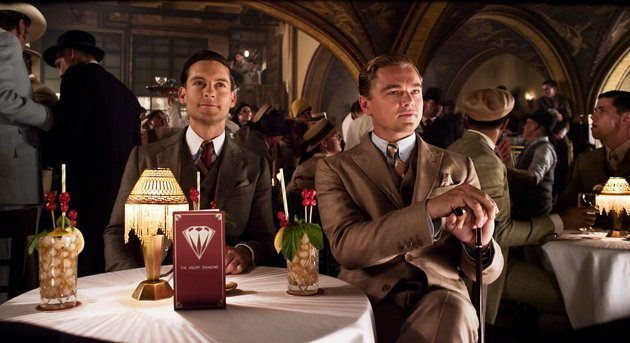 Tobey Maguire, left, and Leonardo DiCaprio in 'The Great Gatsby'