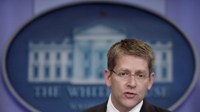 White House Press Secretary Jay Carney speaks during his daily news briefing at the White House, Wednesday, June 15, 2011, in Washington. (AP Photo/Carolyn Kaster)