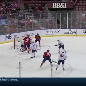 Michal Neuvirth Save on Jonathan Huberdeau(17:35/1th)