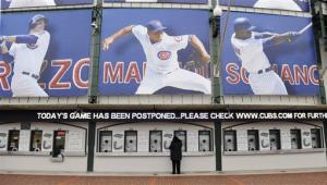 Brewers-Cubs game postponed because of bad weather