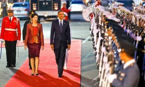 President Obama with Thailand Prime Minister Yingluck Shinawatra: The president's choice of Southeast Asia as his first post-election trip was no accident.