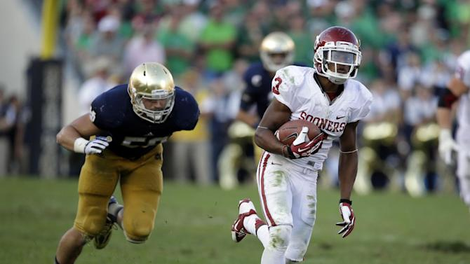 Oklahoma's Shepard showing complete game at WR