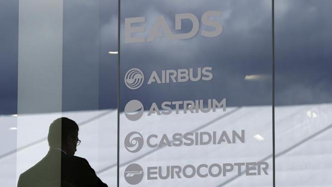 Visitor stands at EADS booth ILA Berlin Air Show in Selchow