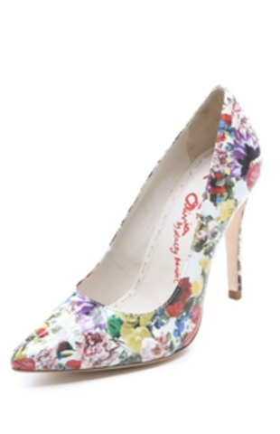 Bright floral heels