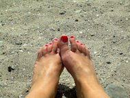 feet on beach