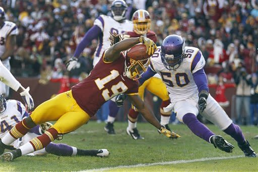 Peterson, Ponder hurt; Vikings top Redskins 33-26
