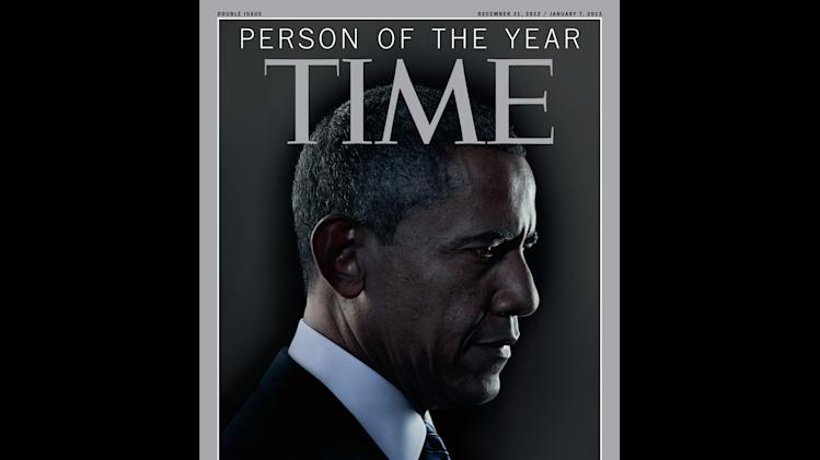 "In this image released Wednesday, Dec. 19, 2012 in New York by Time Inc., President Barack Obama is Time Magazine's Person of the Year.  The selection was announced Wednesday on NBC's ""Today"" show. The short list for the honor included Malala Yousafzai, the Pakistani teenager who was shot in the head for advocating for girls' education. It also included Egyptian president Mohamed Morsi, Apple CEO Tim Cook and Italian physicist Fabiola Giannati. Obama also received the honor in 2008, when he was President-elect. Last year, ""The Protester"" got the honor. (AP Photo/Time Magazine)"
